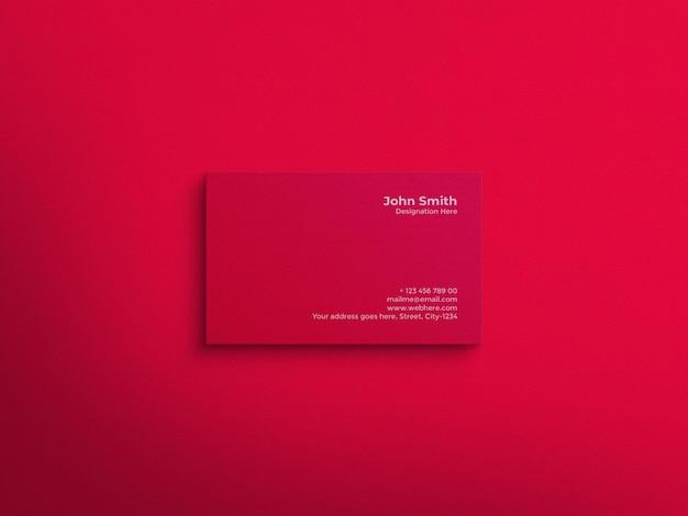 Maquete de cartão de visita moderno e luxuoso