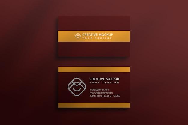Maquete de cartão de visita moderno e mínimo psd