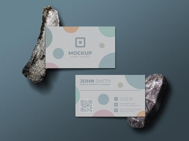 Maquete de cartão de visita moderno e profissional
