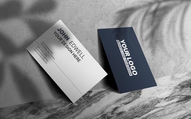 Maquete de cartão de visita moderno frente e verso