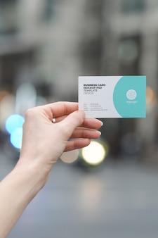 Maquete de cartão de visita moderno horizontal