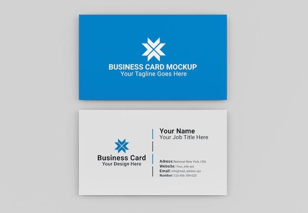 Maquete de cartão de visita moderno isolado