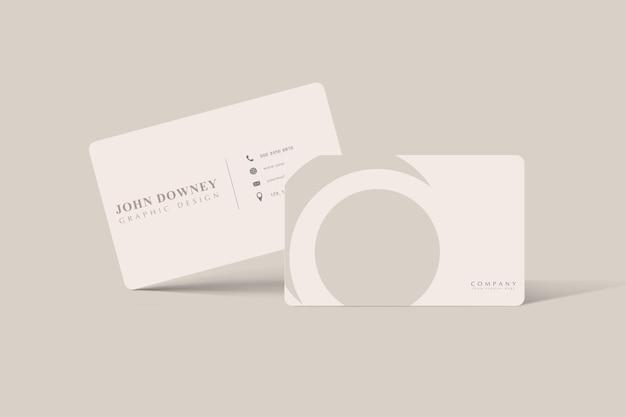 Maquete de cartão de visita moderno