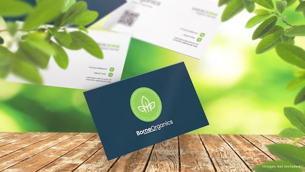 Maquete de cartão de visita natural para loja orgânica