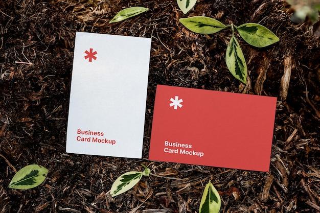 Maquete de cartão de visita no terreno
