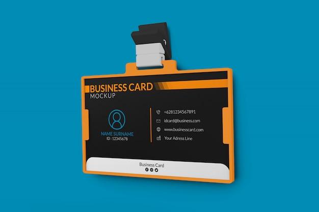 Maquete de cartão de visita no titular da identificação