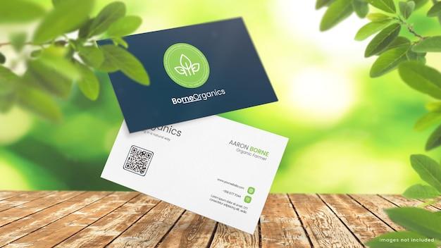 Maquete de cartão de visita orgânico