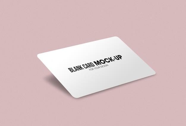 Maquete de cartão de visita ou nome em branco