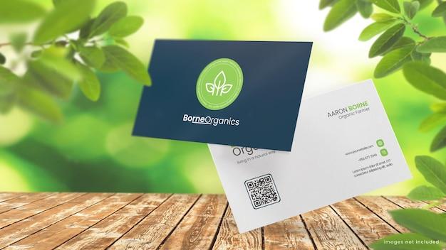 Maquete de cartão de visita para loja orgânica