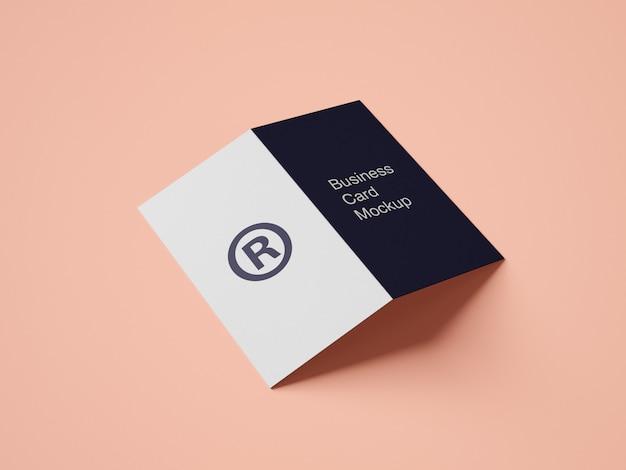 Maquete de cartão de visita pasta moderna