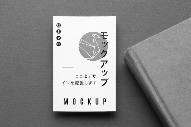 Maquete de cartão de visita plana