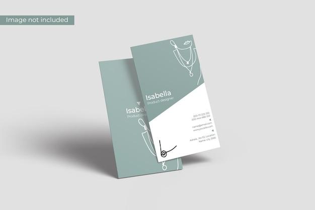 Maquete de cartão de visita potrait