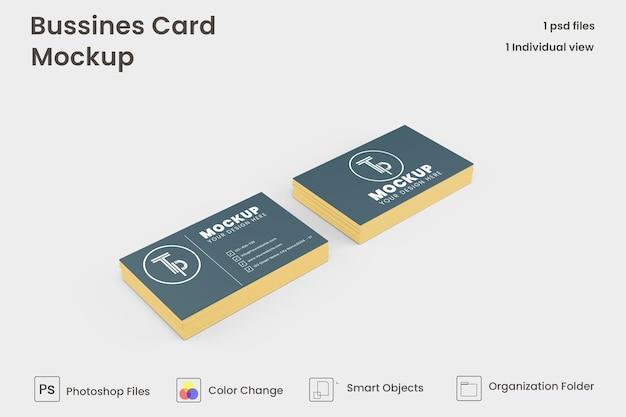 Maquete de cartão de visita premium psd