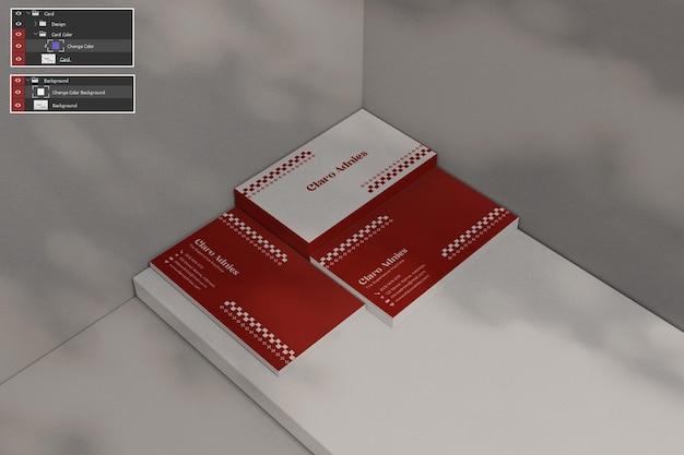 Maquete de cartão de visita premium psdd