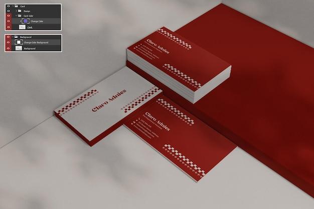 Maquete de cartão de visita premium psdd Psd Premium
