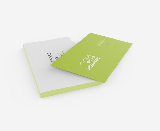 Maquete de cartão de visita premium