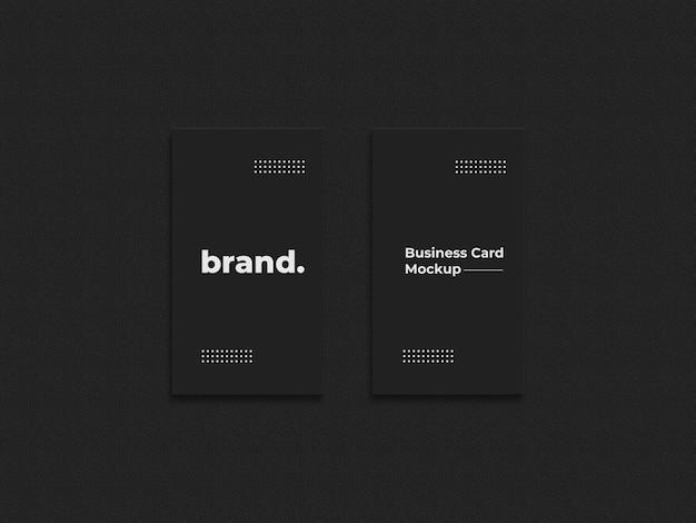 Maquete de cartão de visita preto kruft