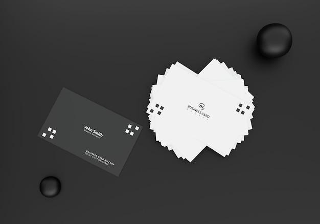 Maquete de cartão de visita preto Psd Premium