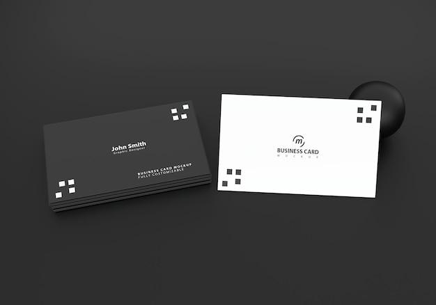 Maquete de cartão de visita preto