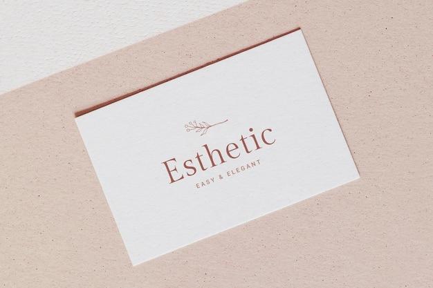 Maquete de cartão de visita psd, design floral realista