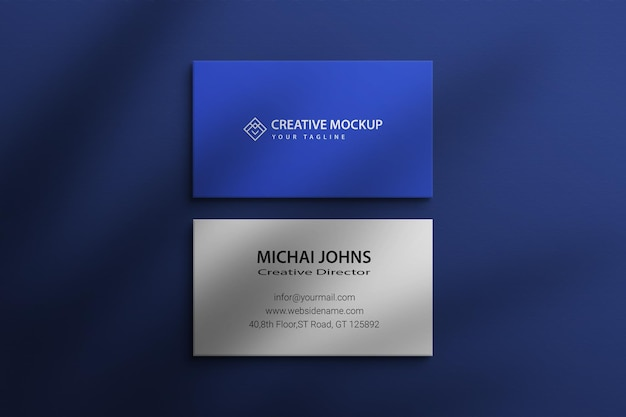 Maquete de cartão de visita psd papel maquete de papel premium