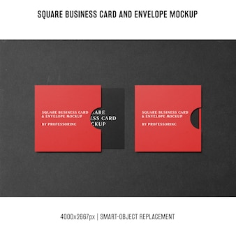 Maquete de cartão de visita quadrada
