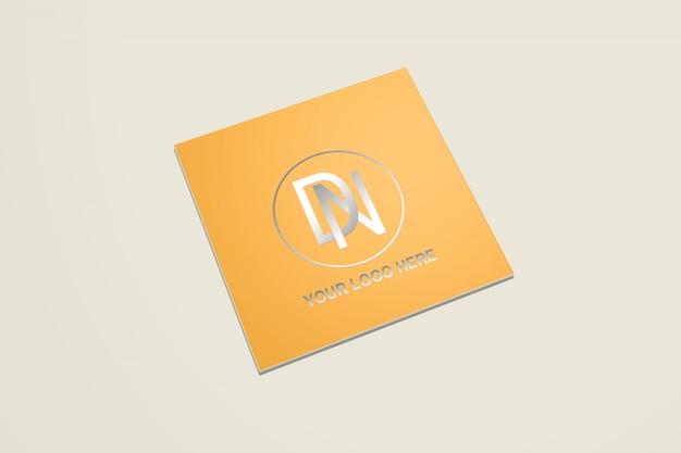 Maquete de cartão de visita quadrado 1