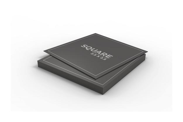 Maquete de cartão de visita quadrado 3d