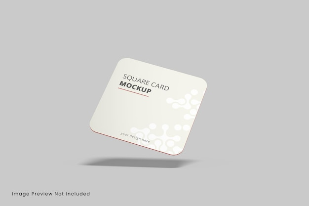 Maquete de cartão de visita quadrado com cantos arredondados