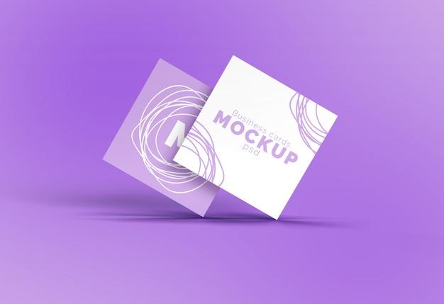 Maquete de cartão de visita quadrado