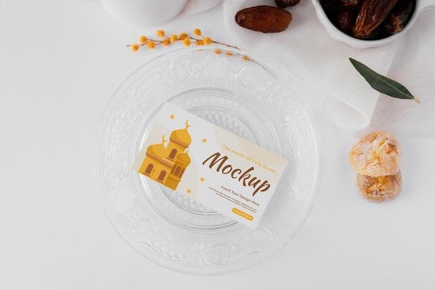 Maquete de cartão de visita ramadã