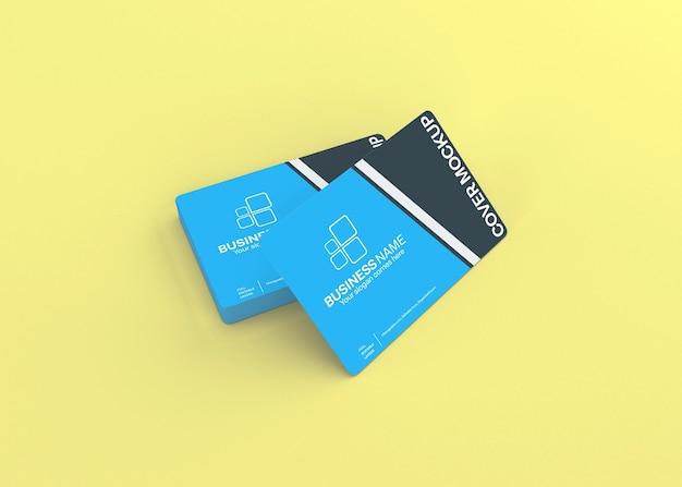 Maquete de cartão de visita realista e moderno