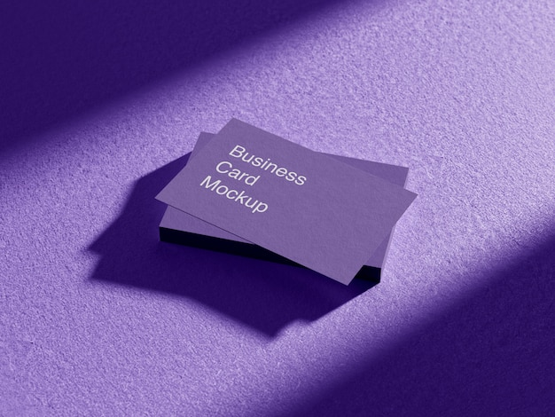 Maquete de cartão de visita realista
