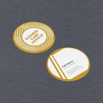 Maquete de cartão de visita redondo