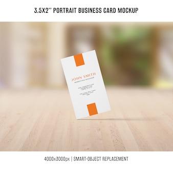 Maquete de cartão de visita retrato