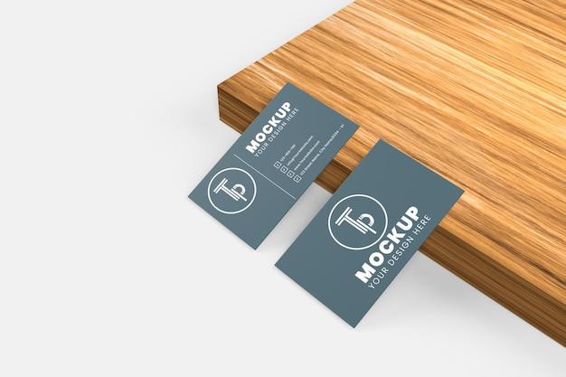 Maquete de cartão de visita simples e elegante