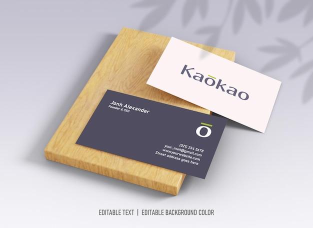 Maquete de cartão de visita simples e limpo