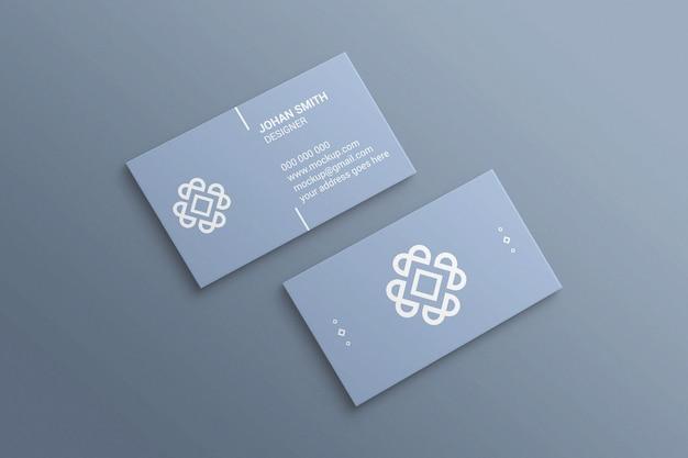 Maquete de cartão de visita simples e minimalista
