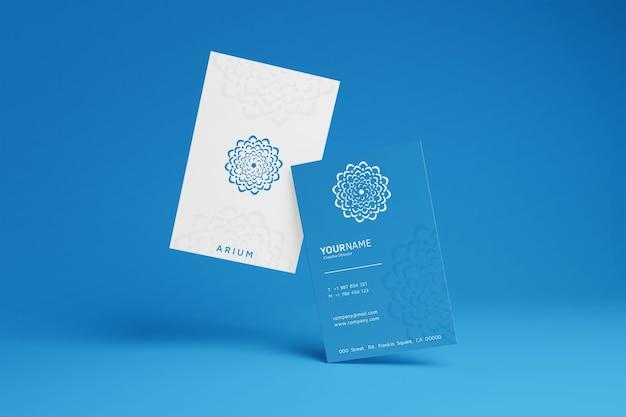 Maquete de cartão de visita simples
