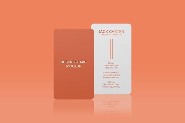 Maquete de cartão de visita vertical com canto arredondado