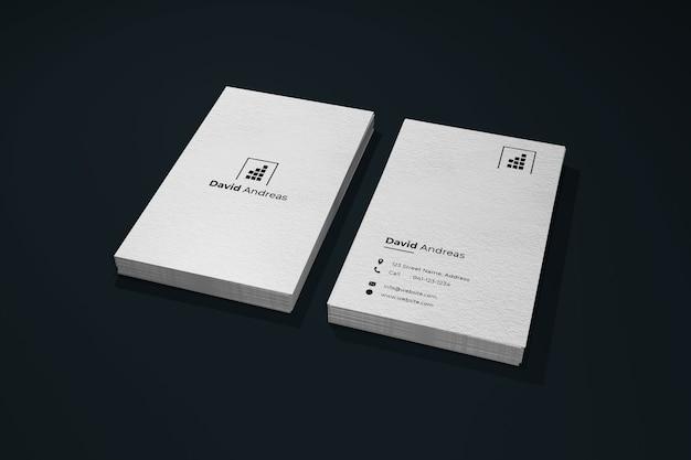 Maquete de cartão de visita vertical