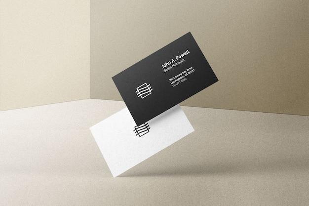 Maquete de cartão de visita voador