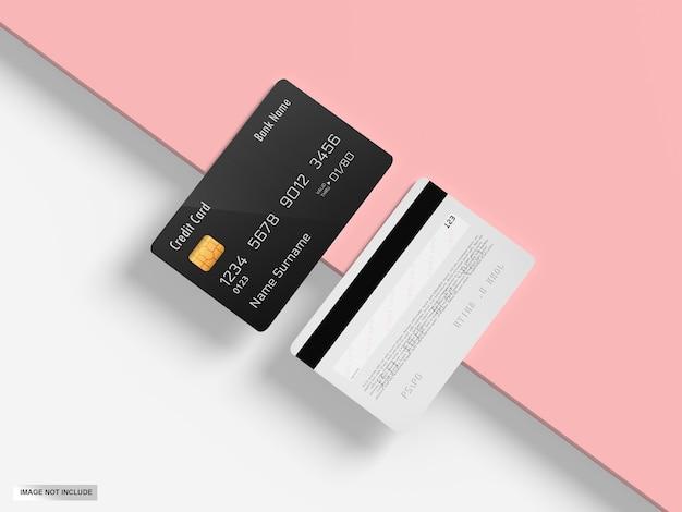 Maquete de cartão do banco de crédito