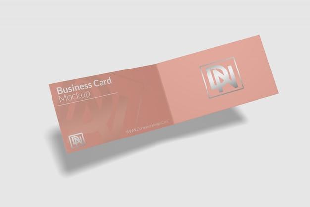 Maquete de cartão dobrado 4