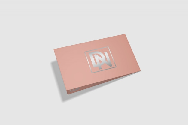 Maquete de cartão dobrado 7