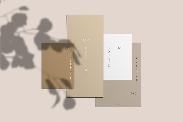 Maquete de cartão e convite