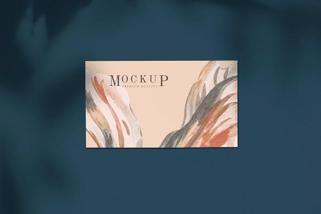 Maquete de cartão elegante