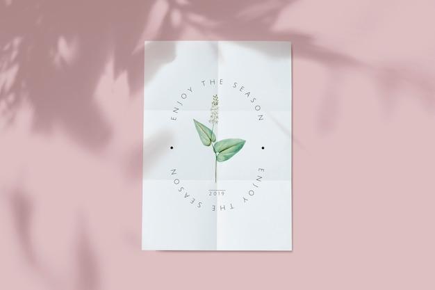 Maquete de cartão floral