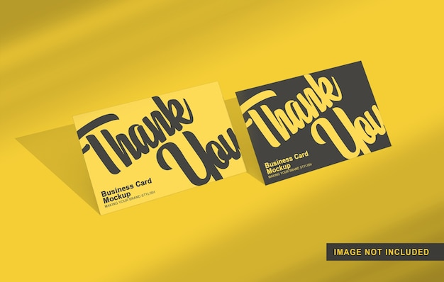 Maquete de cartão horizontal isolada