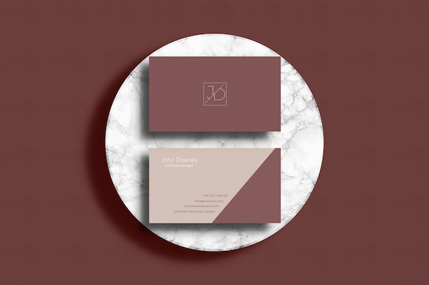 Maquete de cartão moderno com maquete de sobreposição de sombra